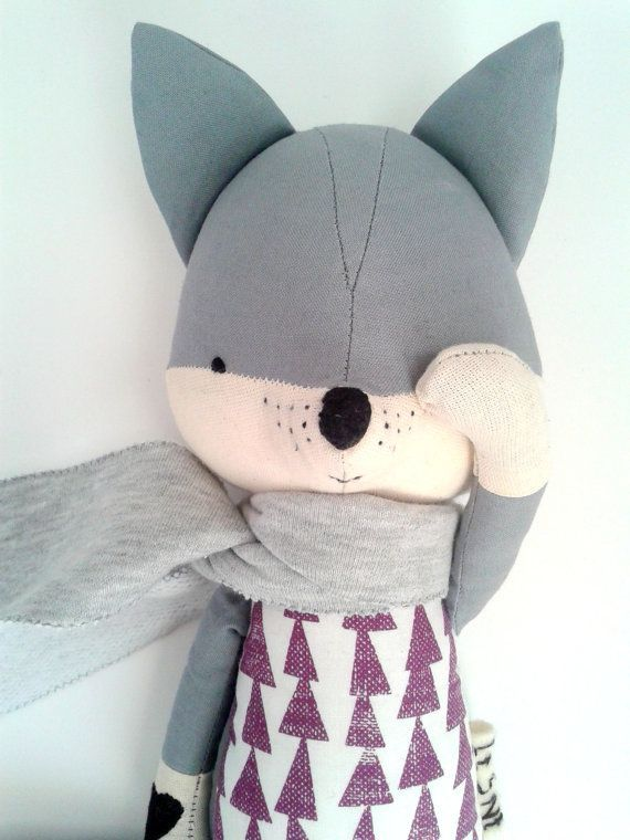 RUNE the fox. made-to-order. stuffed toy. gift for by LESNE