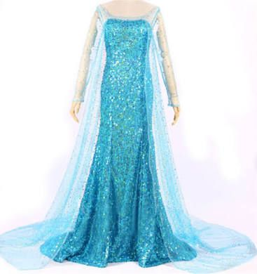 Adult Elsa Frozen Costume, Womens Elsa Costume Turquoise