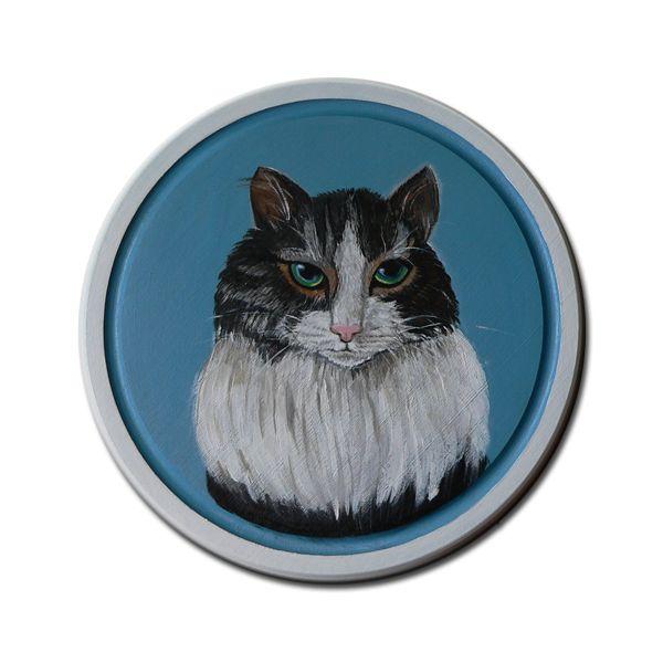 Kot Izydor - obrazek na desce w SolmilarArt na DaWanda.com