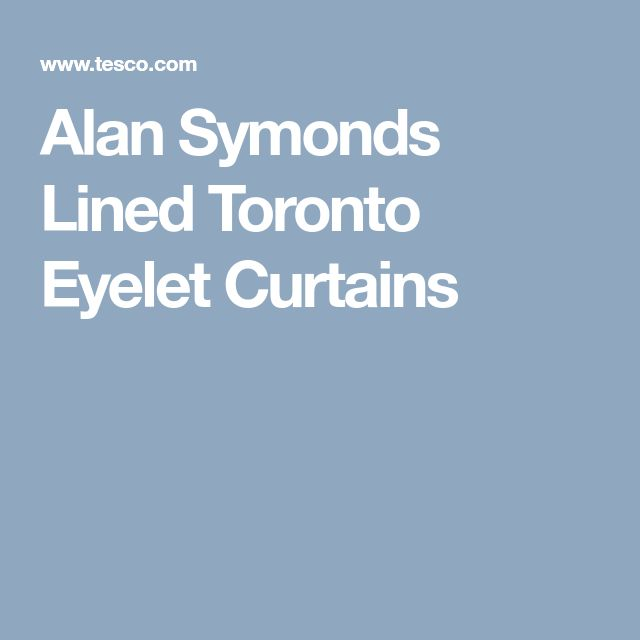 Alan Symonds Lined Toronto Eyelet Curtains
