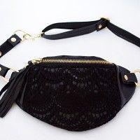 MINI black lace 002, torebki na pas - damskie