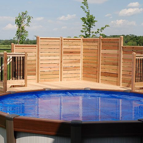 80 best images about ext rieur et jardin on pinterest for Plan de deck de piscine