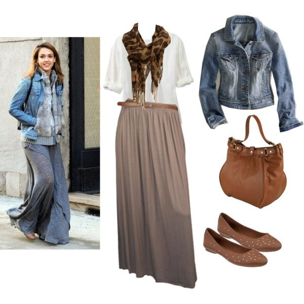 fall maxi outfit minus the jean jacket-for work,black maxi, cardigan, leopard scarf and flats
