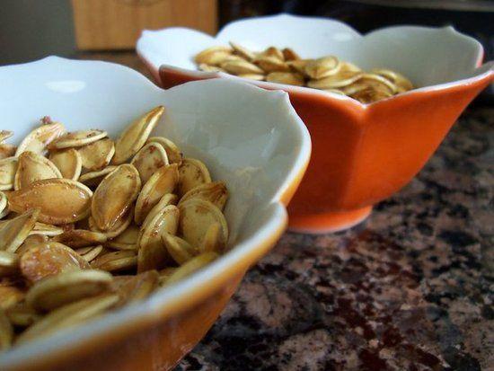 Got leftover pumpkin seeds from your Jack-o-lantern? How to Roast Pumpkin Seeds.