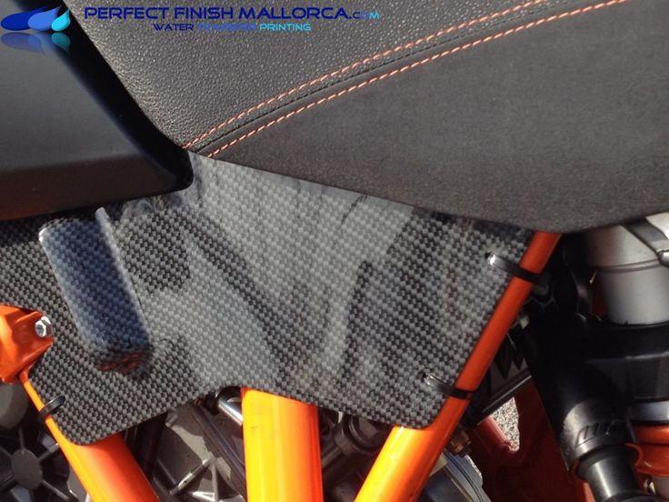 Tuning piezas Custom KTM Adventure 1190 a carbono brillo | Perfect Finish Mallorca