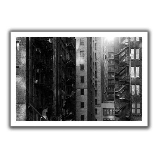 ArtWall 'Buildings' by John Black Photographic Print on Canvas
