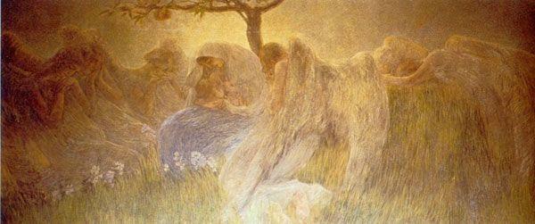 Gaetano Previati maternità, madonna dei gigli, adorazione dei magi