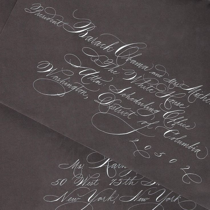 Spencerian Calligraphy for Invitation Addressing. $2.75, via Etsy.