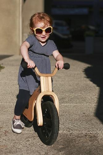 Cecily on her balance bike.