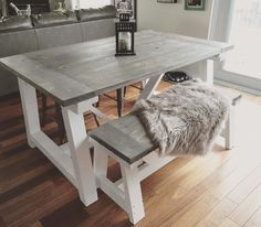 Rustic Home Decor   Ana White   DIY   Shanty 2 Chic   Rustic   Shabby Chic   Dining Table   Kitchen Decor   Reclaimed Wood   Salvaged Wood   Rustic Kitchen