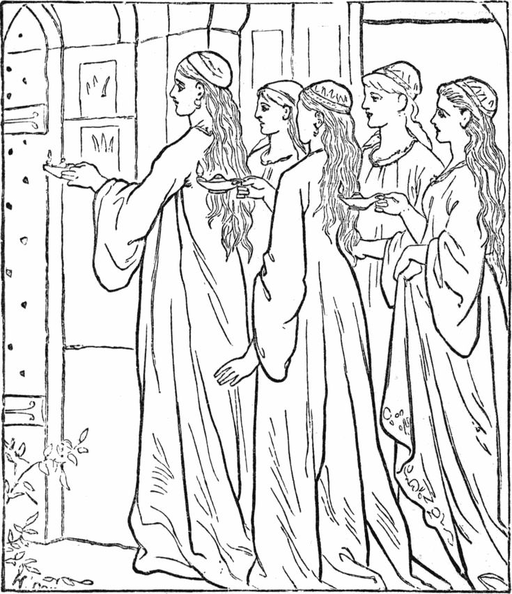 jesus knocking at the door coloring pages - 10 virgins bible story coloring page give me oil in my