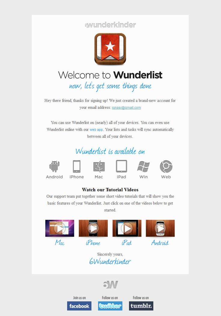 34 best Best Transactional Emails images on Pinterest Basket - sample email marketing