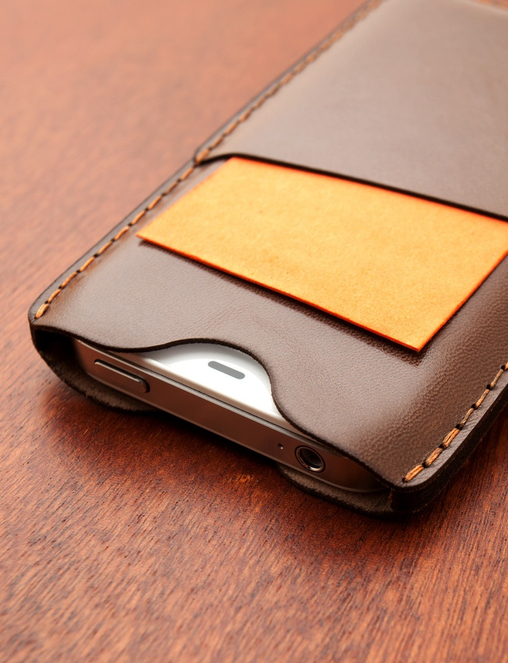 Leather iPhone case from Luxe Plates.