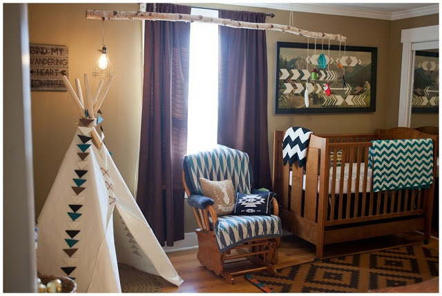 seriously love this tribal themed kids room - I will definitely be doing this in Riggs room at some point! Maybe with a toddler bed instead...