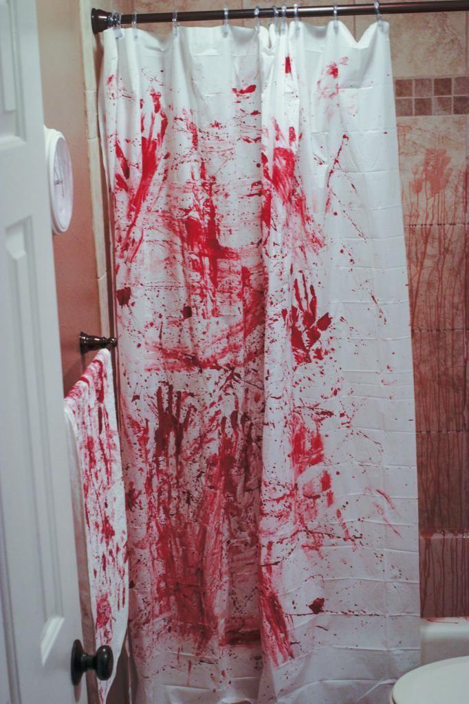 Halloween Bathroom Decorations DIY Murder Scene Bathroom