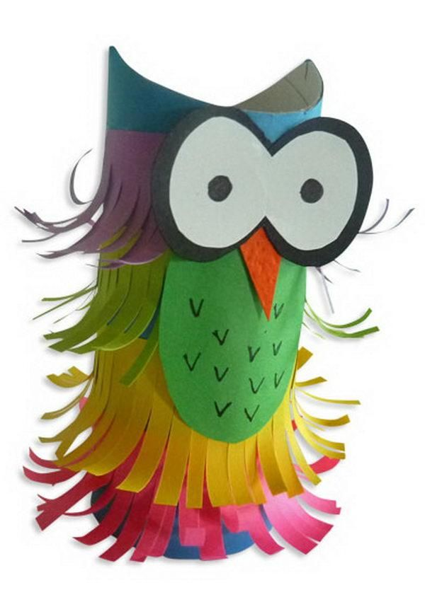 Hoot hoot! Try this DIY toilet paper roll craft.
