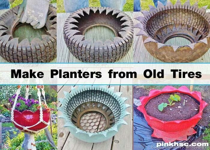 Want to do this cool ideas pinterest tired tire for Used tire yard art