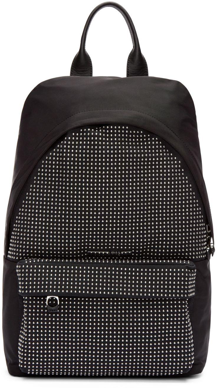 McQ Alexander Mcqueen - Black Nylon Studded Backpack