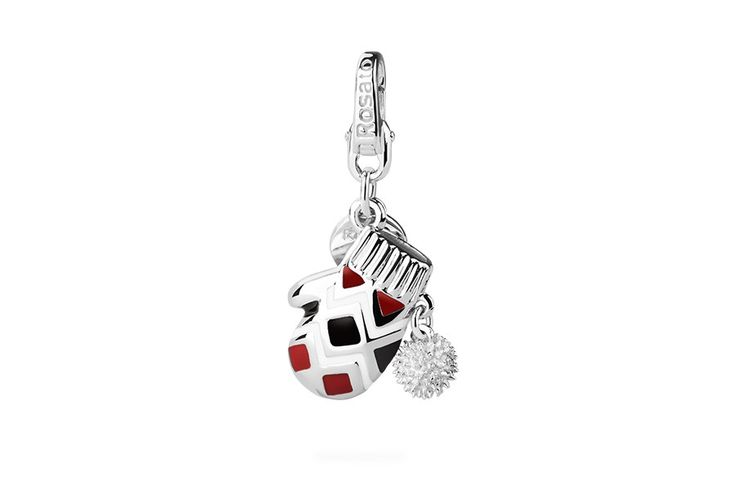 Silver Charm  - red Snow Boot    #rosato #charm #christmas