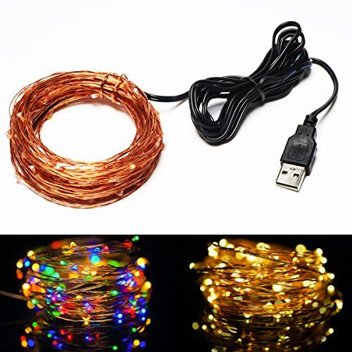 USB LED String Lights Solla 3 Set of 100 Leds Copper Wire Lights Flexible Starry String Light Waterproof Rope Lights for Indoor Outdoor Wedding Party Christmas Holiday Decoration33ftWarm White * Click on the image for additional details.