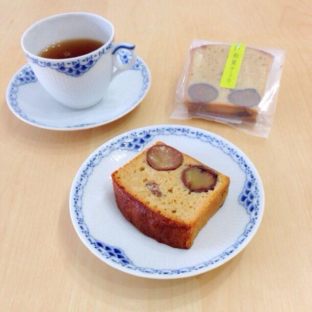 京都の京みずはさんよりお取り寄せ♪ 栗のノンバターパウンドケーキ。