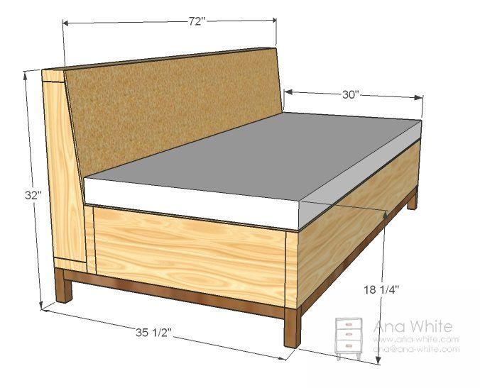 17 mejores ideas sobre sofa cama individual en pinterest - Estructura cama individual ...