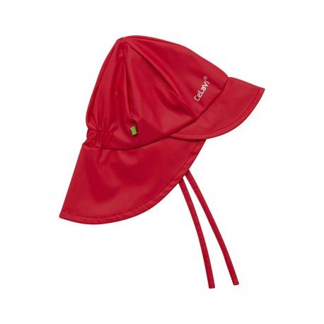 Rain hat, red, Celavi