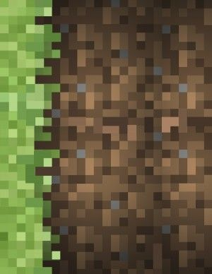 Need Minecraft green and brown block wallpaper? Visit healthy-family.org to print out a free 8 1/2 x 11 sheet. Now you've got your own wrapp...