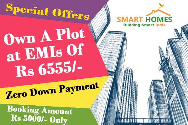Own a Plot at EMIs of Rs. 6555/- Only, Zero Down Payment & Booking Amount Rs. 5000/- Only. For More Information-- Please Visit Us : http://bit.ly/1Q6XXTh  Or Contact Us : +91 7096961242, +91 7096961244