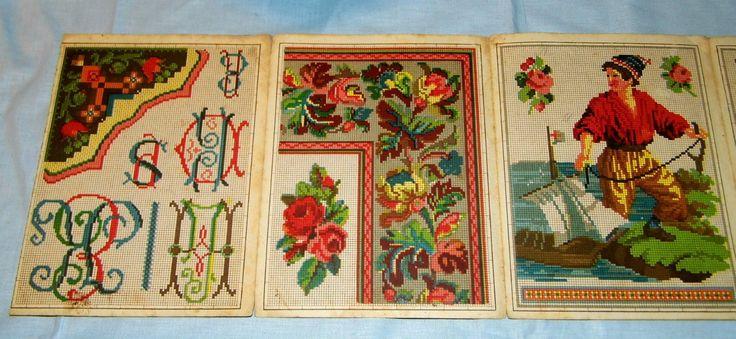 (3) German Berlin WoolWork Pattern Book/Leporello Detail eBay.de