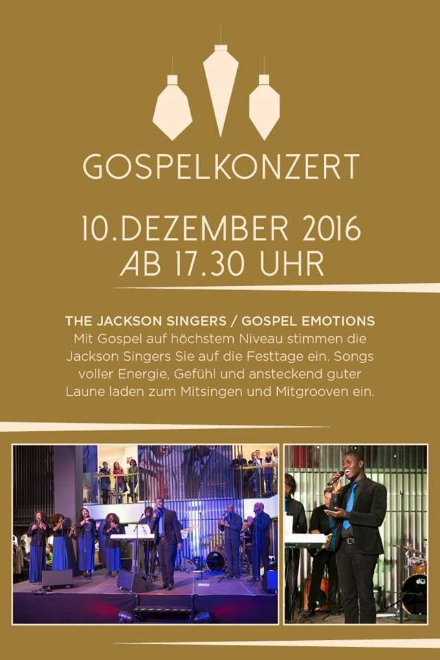 Am 10. Dezember treten die Jackson Singers bei uns auf... vorbeischauen und mitgrooven #Weihnachten #Gospel #Musik #ModeGarhammer #festlich