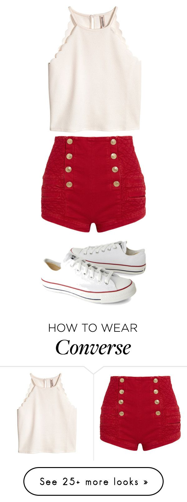 """Untitled #5958"" by bellagioia on Polyvore featuring Pierre Balmain and Converse"