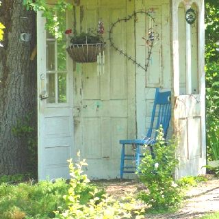 Love this! what a great way to repurpose old doors!