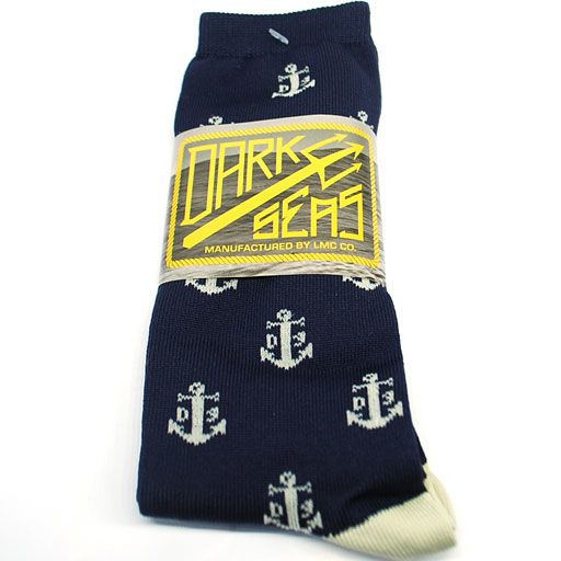 Loser Machine Dark Seas Fluke Socks (Navy) $9.95