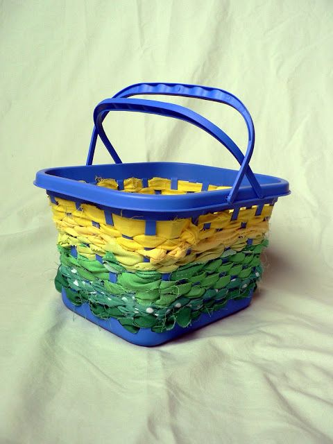 How to: No Sew Scrap Fabric Basket
