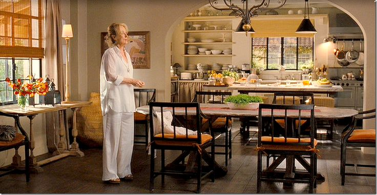 Inside The Homes From Meryl Streep's Most Iconic Films,,It's Complicated  Streep plays a successful bakery owner in this rom com, and while every room of this sprawling California home is drool-worthy, the kitchen is seriously envy-inducing.