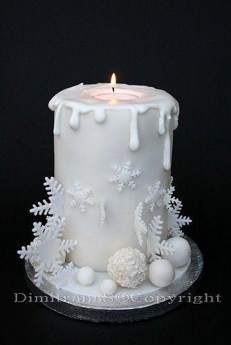 Weihnachtstorte Christmas Cake Candle