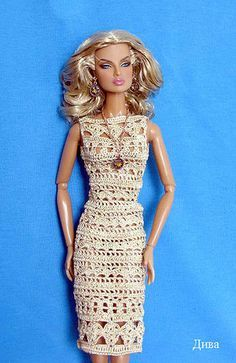 Barbie doll crochet dress