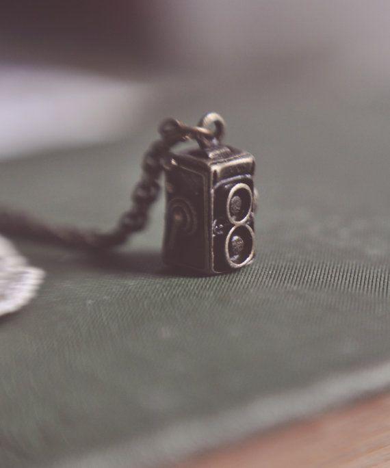 vintage camera necklace.