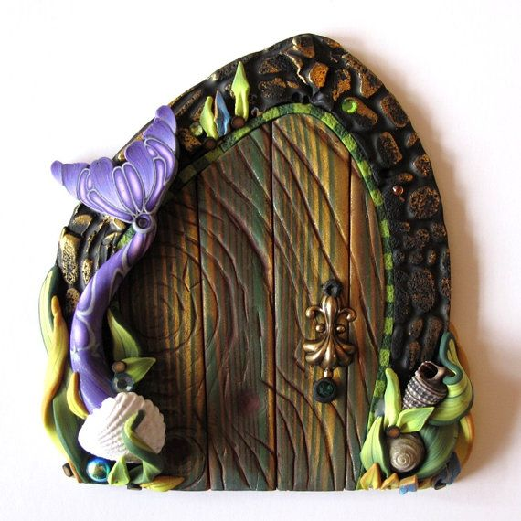 Reserved for c mermaid tale fairy doors and kid wall art for Fairy door wall art