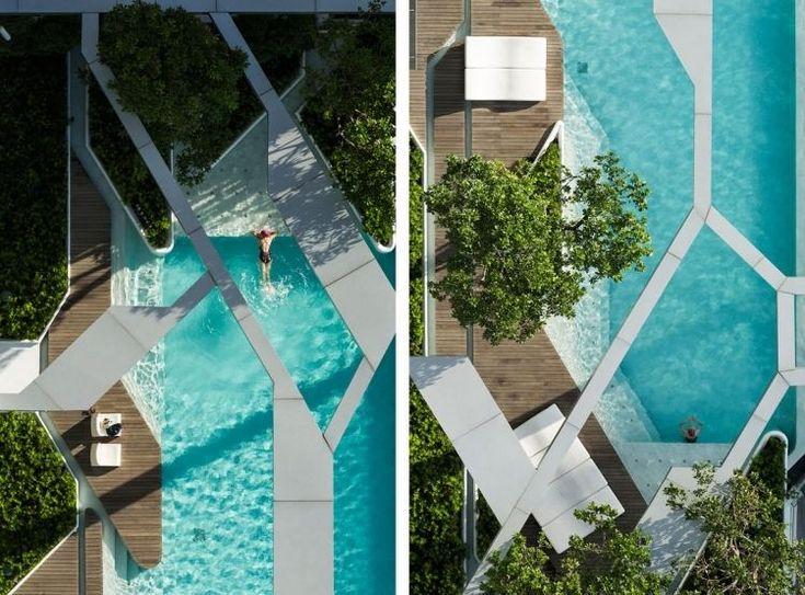 sicht von oben auf dem traumhaften schwimmbad | pools of all kinds,