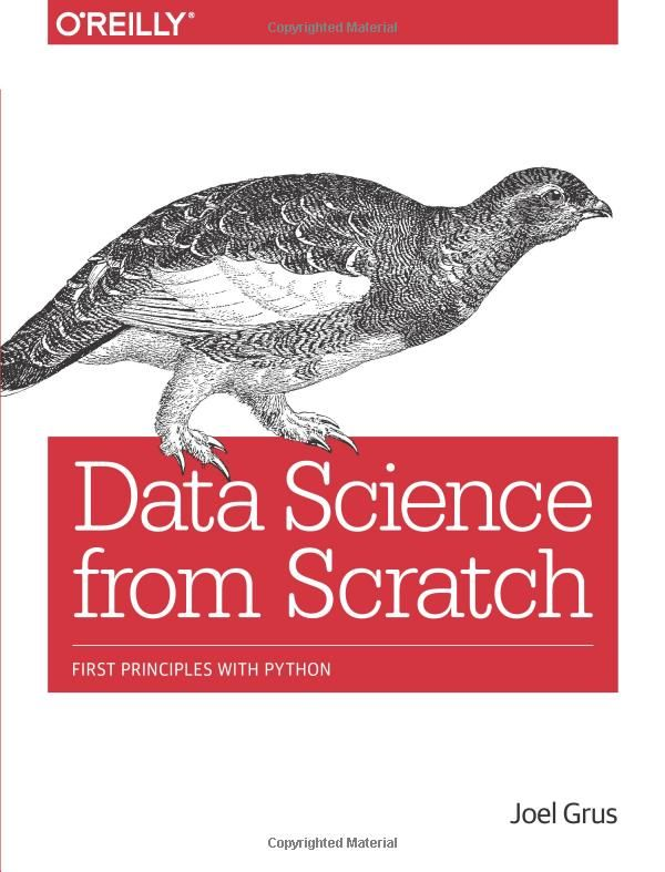 Data Science from Scratch: First Principles with Python book. Excellent book for learning some intense Python, how to deal with data, how to utilize Machine Learning, and how to build systems and models for Data Analysis