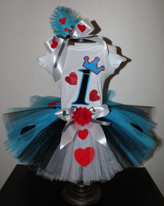 Alice in wonderland tutu jurk shirt top door SixChicKidsBoutique