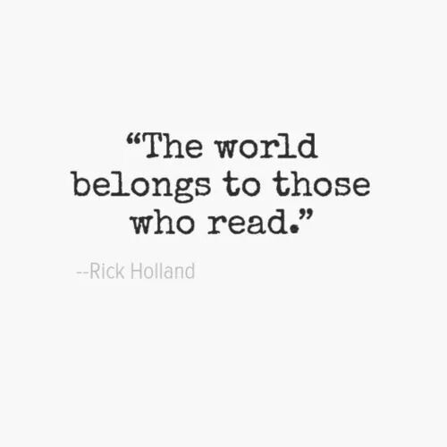 ...and I belong to what I read.