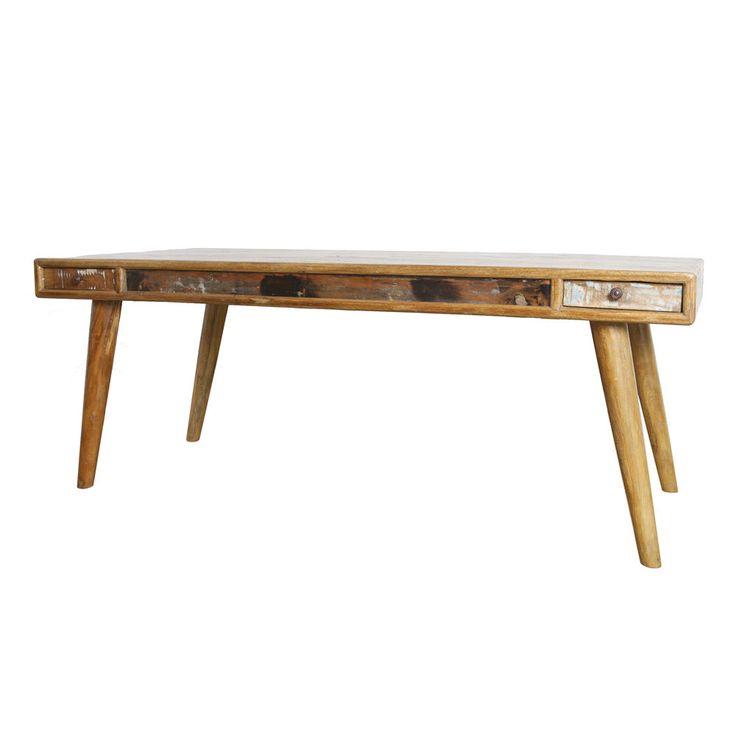 Vintage Esstisch 4 Schubladen Holztisch Dinnertisch Tisch Esszimmertisch massiv in Möbel & Wohnen, Möbel, Tische   eBay