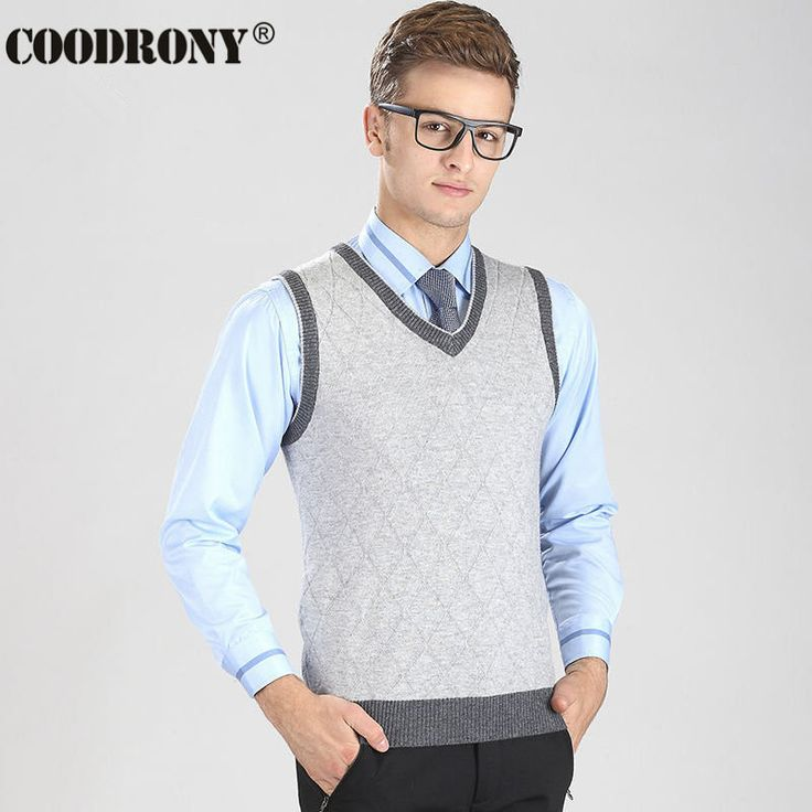2016 New Arrival High Quality V-Neck Vest Men Argyle Business Coat Sleeveless Cashmere Sweater Men Casual Wool Pullover OEM 6402 //Price: $28.20 & FREE Shipping //     #hashtag2