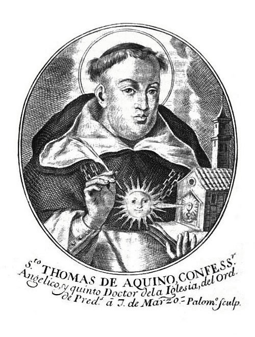 Santo Tomas de Aquino Juan Bernabé Palomino, Grabador Andrea Jarquin