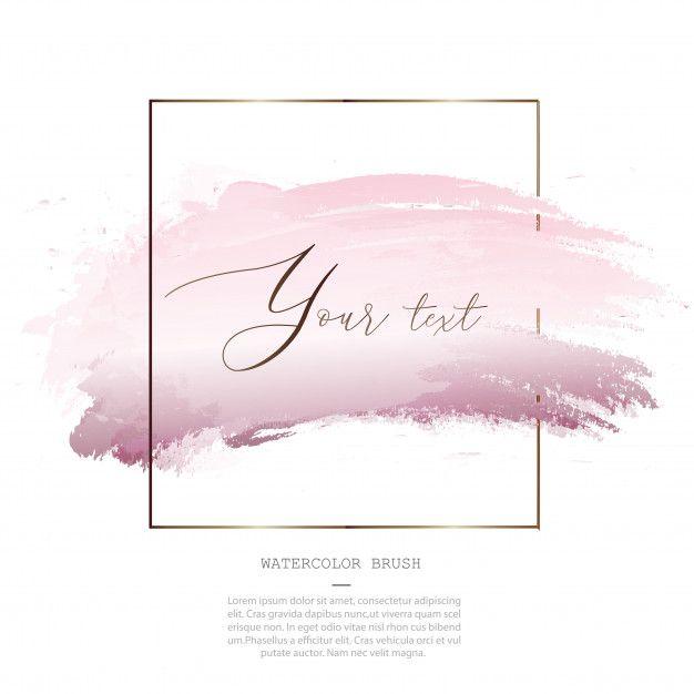 Decorative Pink Watercolor Splash Brush Template In 2020 Pink