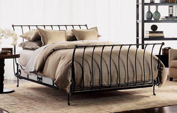 Paris Queen Sleigh Bed Black Iron Decoracao De Casa Decoracao