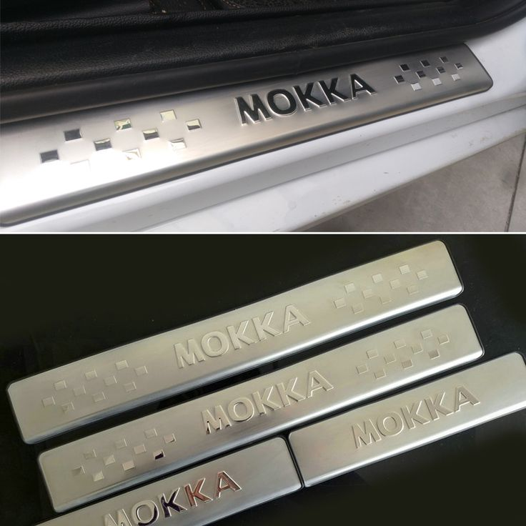 FREE SHIPPING STAINLESS DOOR SILL PLATE SCUFF Scuff Plate Guard Car ACCESSORIES FOR OPEL MOKKA VAUXHALL MOKKA 2012 2013 2014